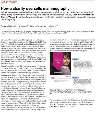 NotSoStoriesOverSellingMammography